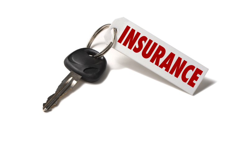 key with insurance tag for auto insurance