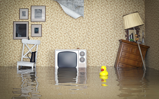 home insurance tips flooded living room